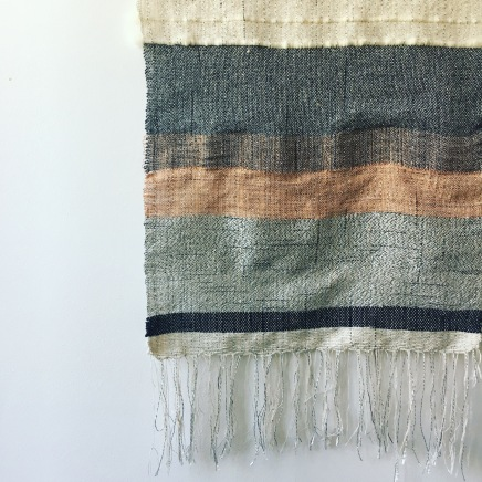 Wall hanging: mixed yarns and copper