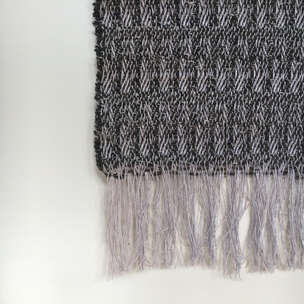 Wall hanging: cotton warp and mixed weft