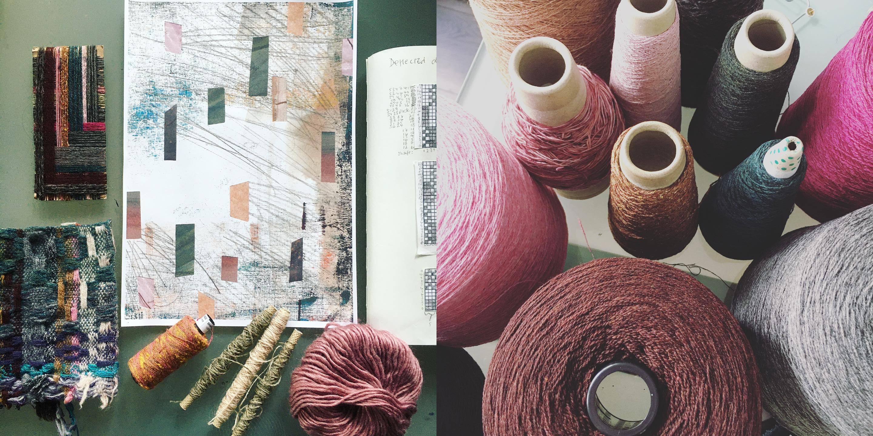 Handweaving design process and yarns