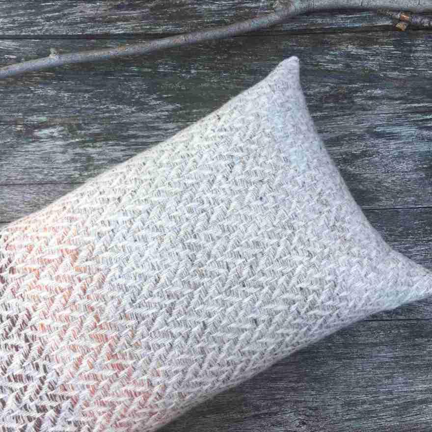 Handwoven bolster cushion