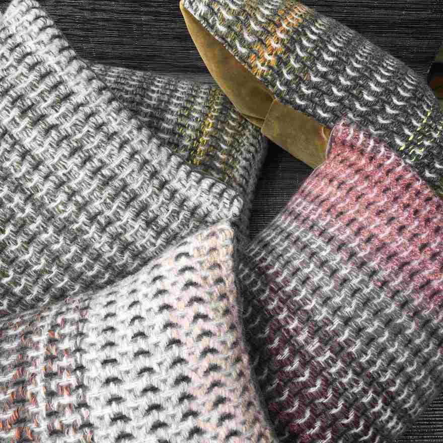 Handwoven chevron cushions