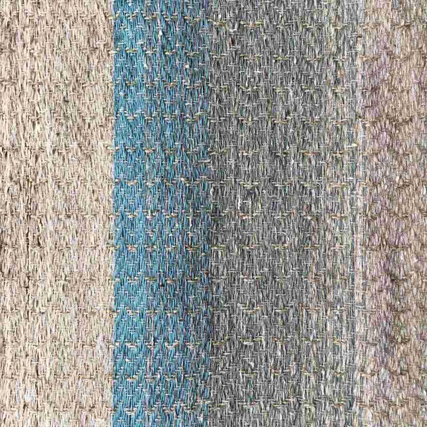 Handwoven linen textile art