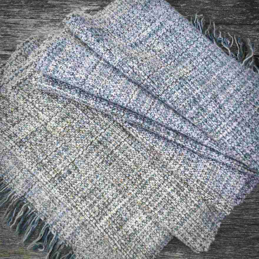 Handwoven scarf inspired by the Hebridean coastline