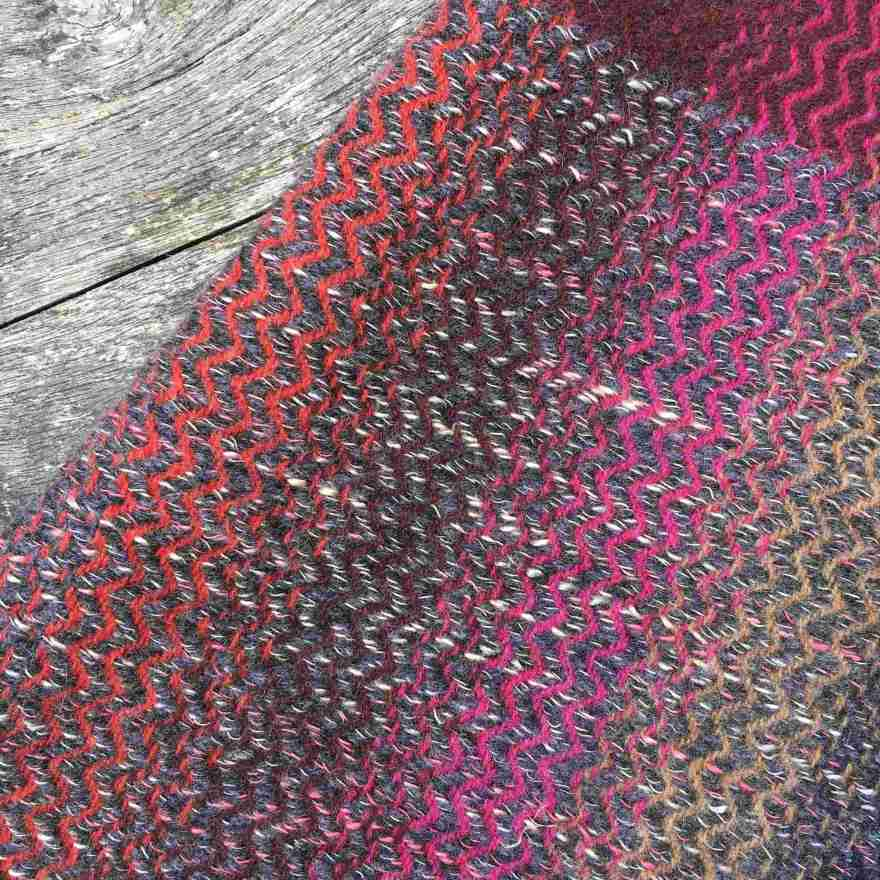 Handwoven textile colour exploration