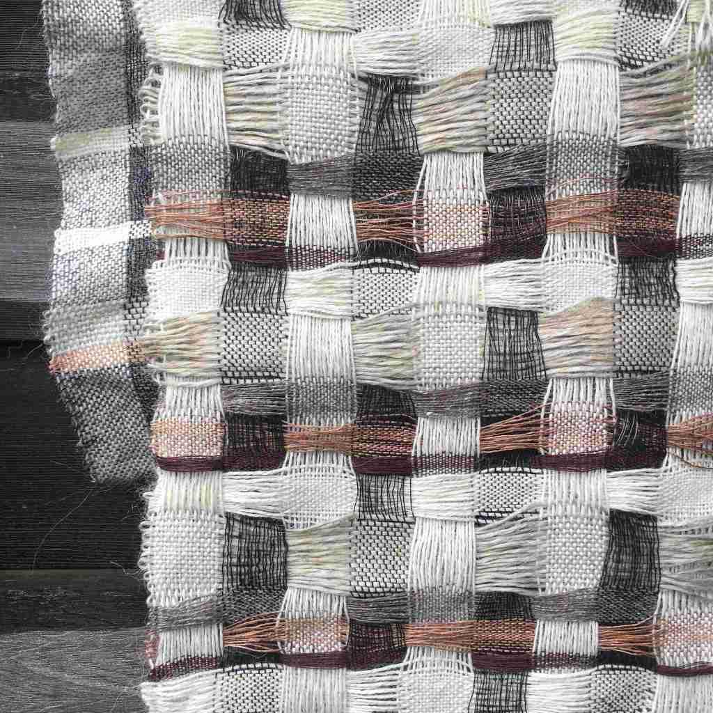 Textile art alpaca linen steel