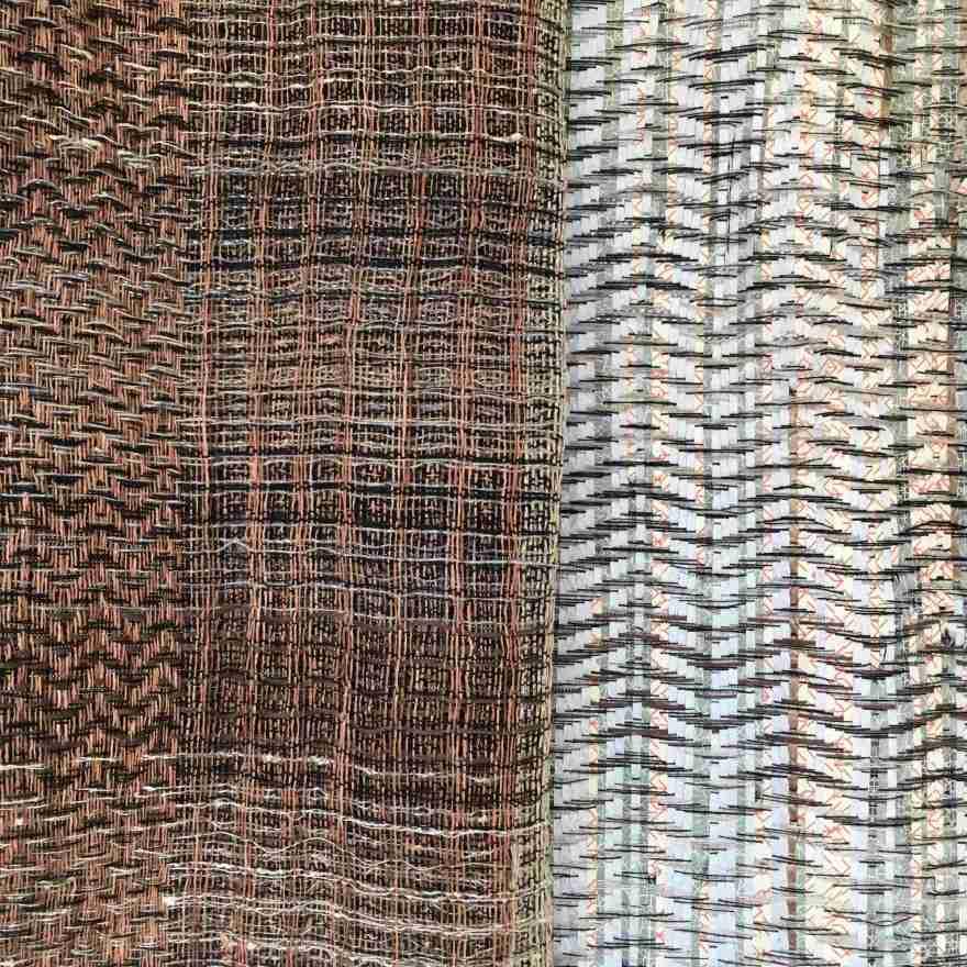 Textile art linen paper