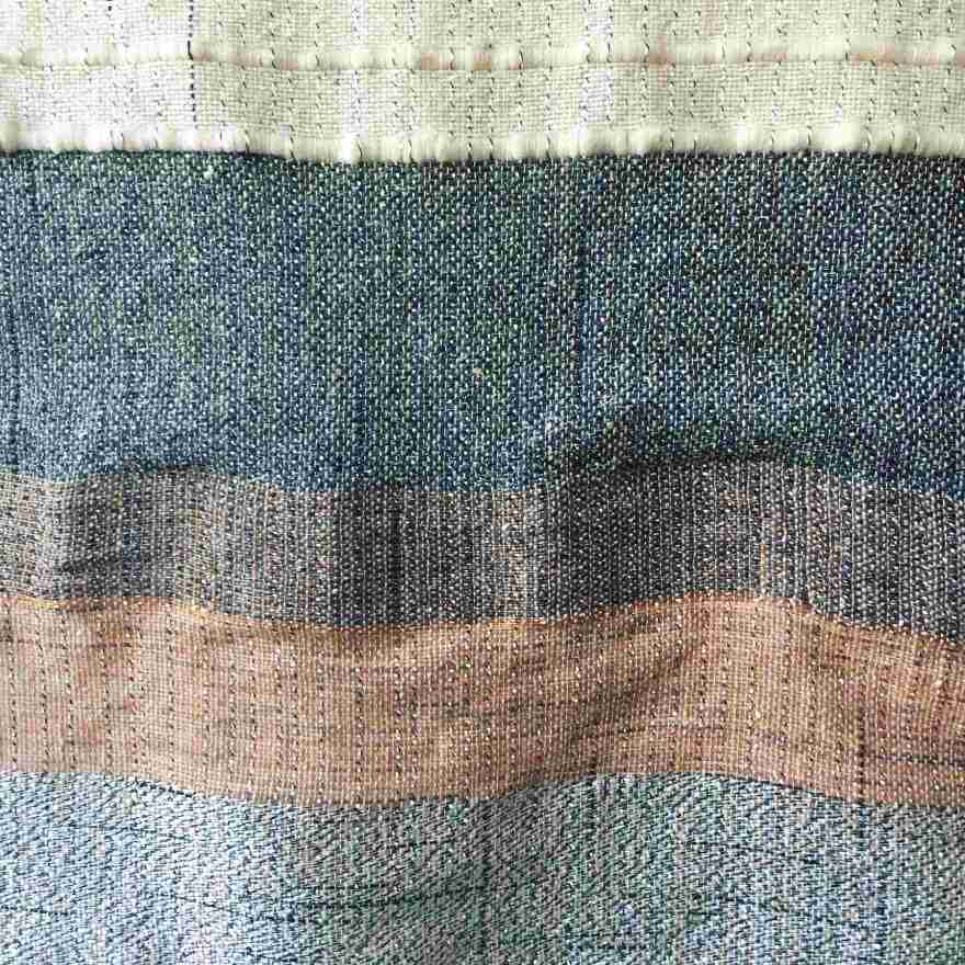 Textile art woven copper wire