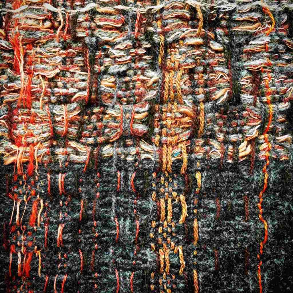 Textile art colour and texture