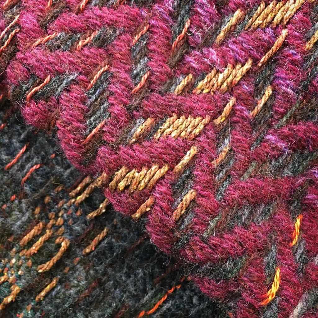 Woven textile art colour and pattern