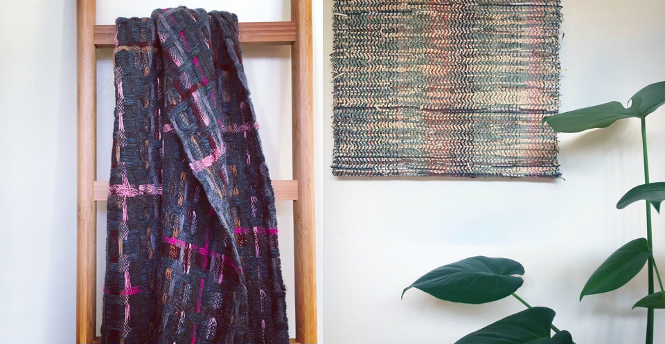 Handwoven scarf and wall art
