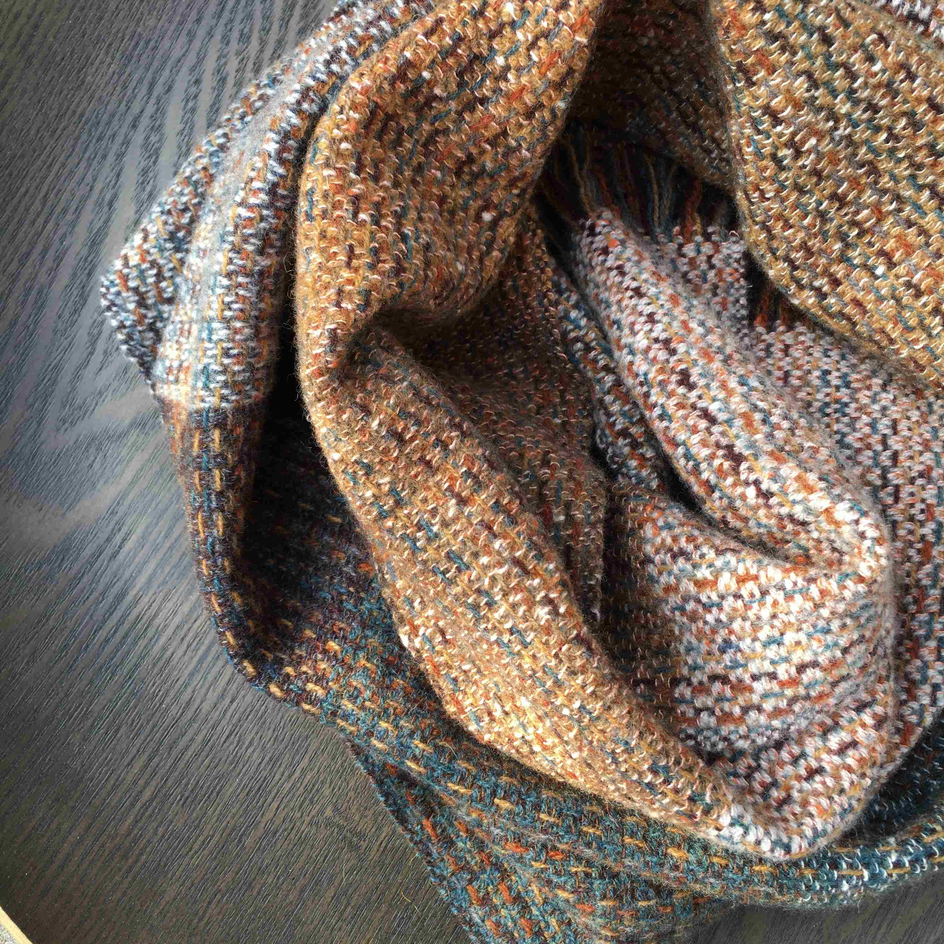 Handwoven scarf vlietland colours