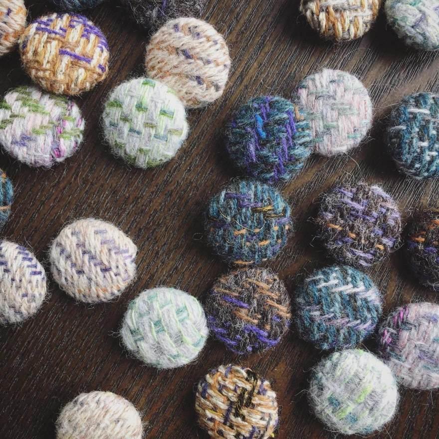 Handwoven buttons mixed