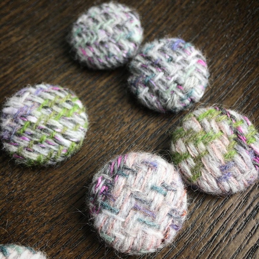 Handwoven buttons