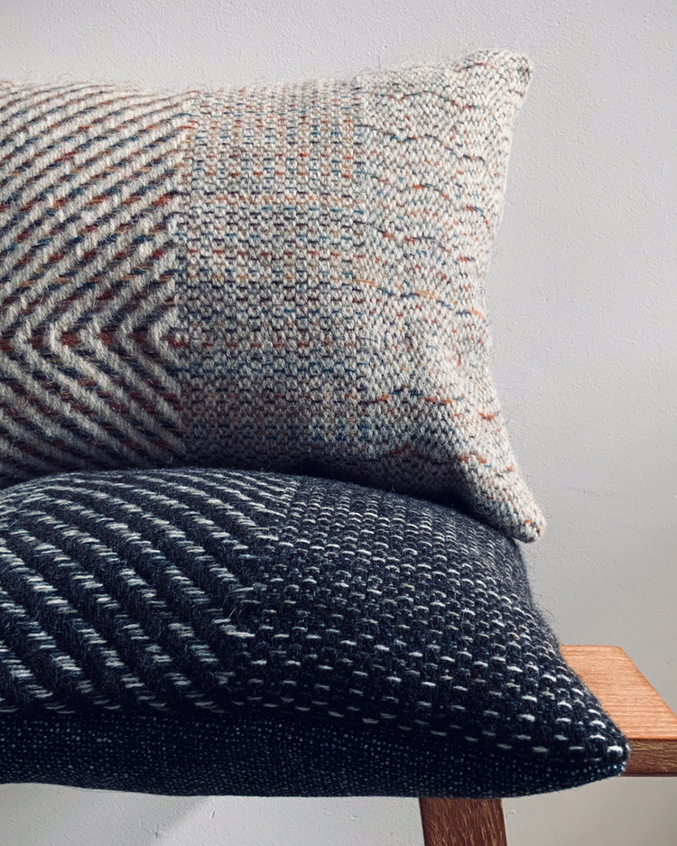 Handwoven cushions in local wool