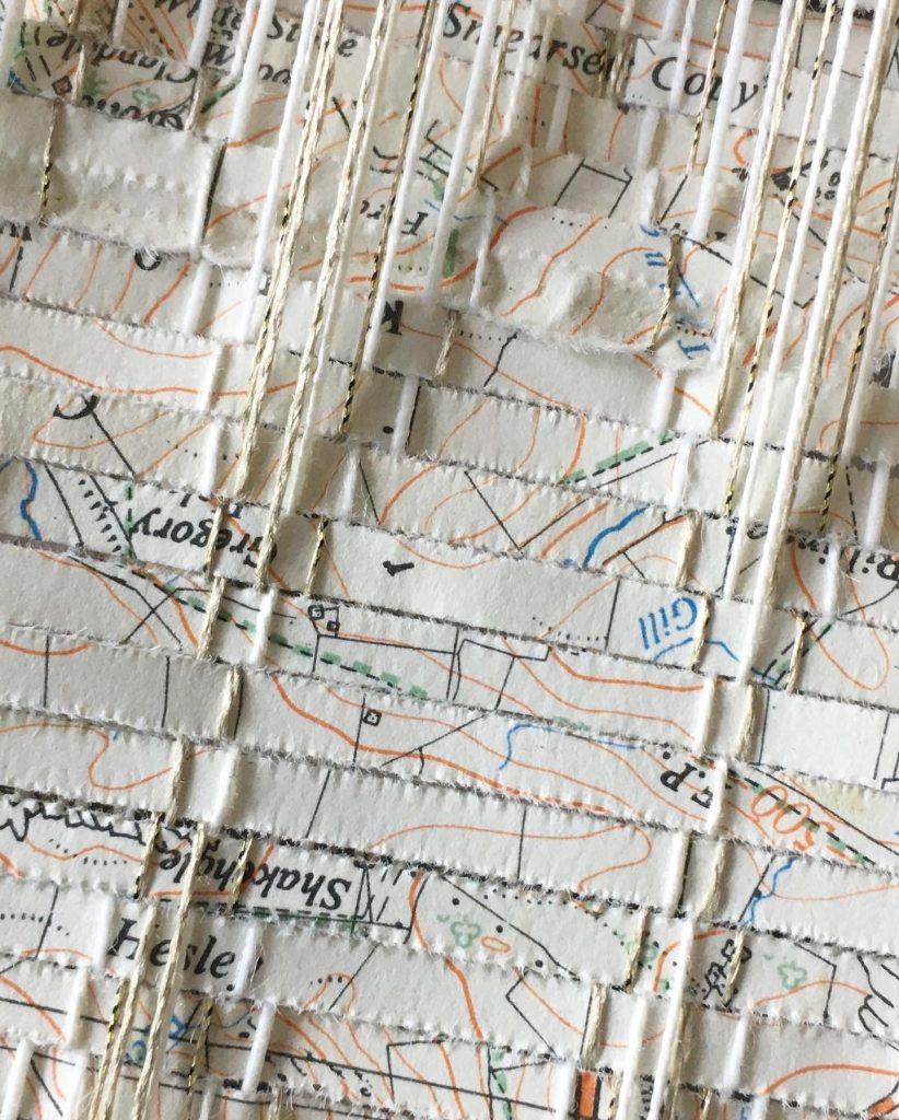 Detail of woven map