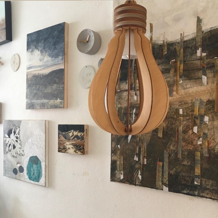 Kunstuitleen Voorburg mixed media works on display