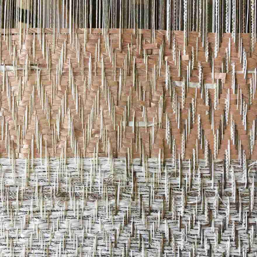 Twill paper weave