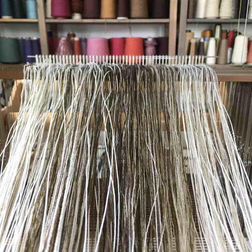 Warp ordered on loom
