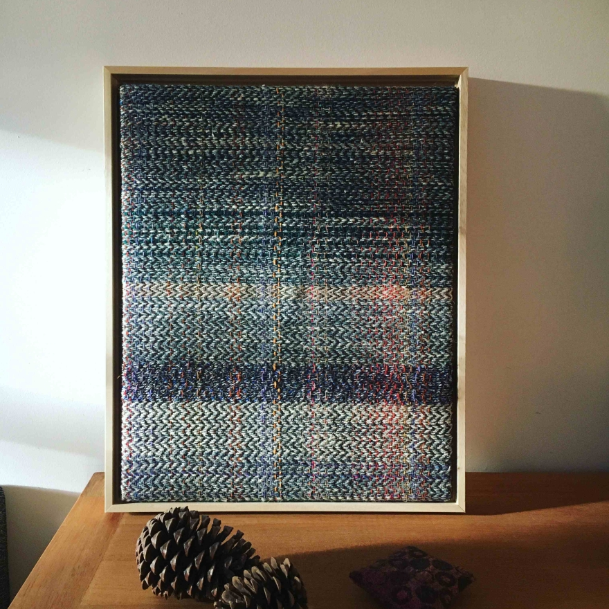 Midwinter framed woven wall art