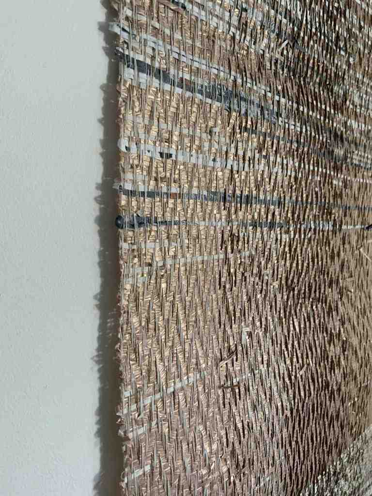 Woven textured paper