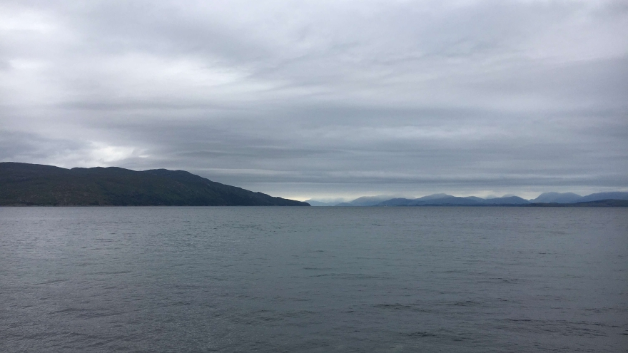 Towards the mainland from Mull