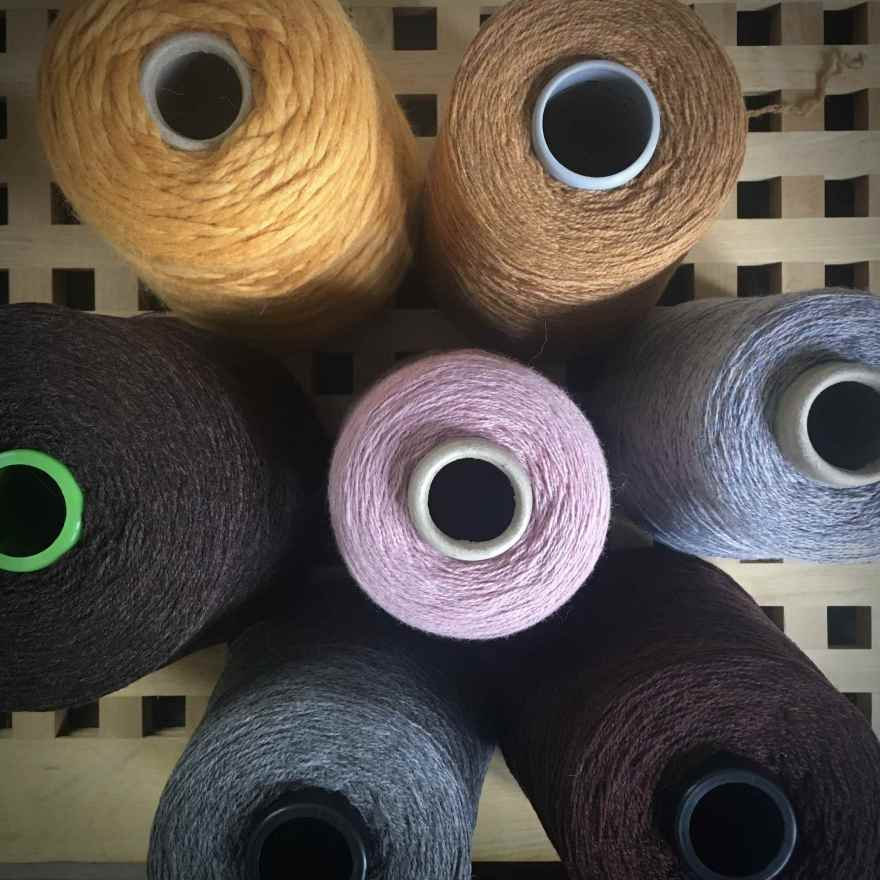 Lambswool, ecological wool and alpaca