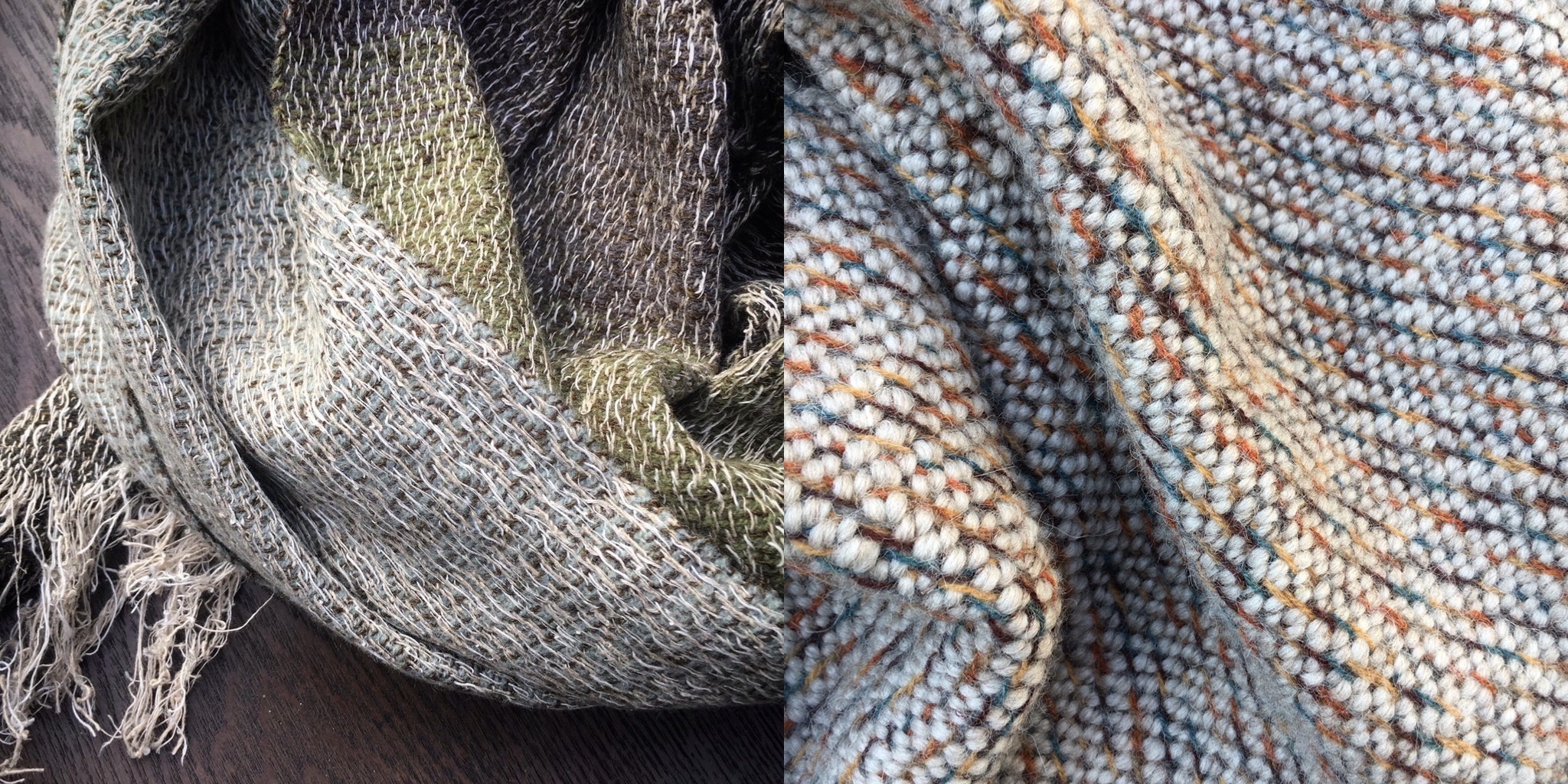 Linen and sustainable wool scarves